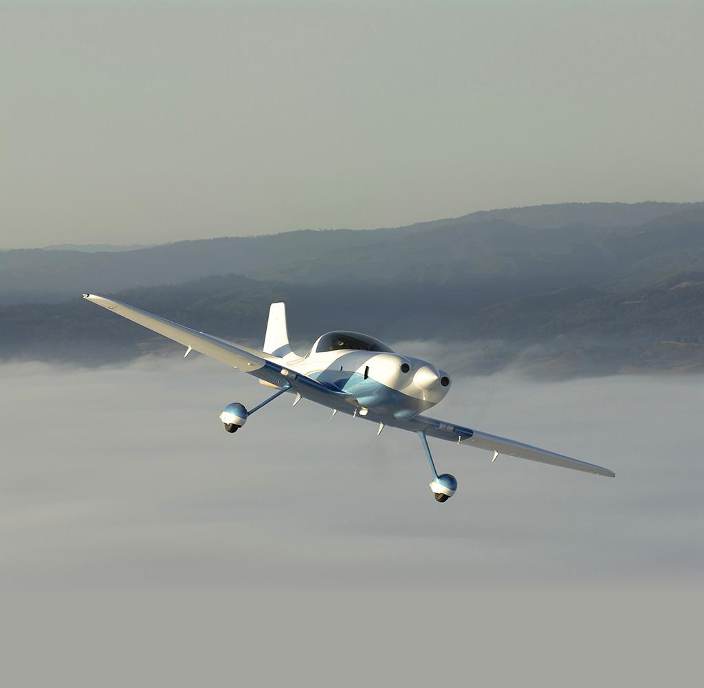 Lancair Barracuda in flight