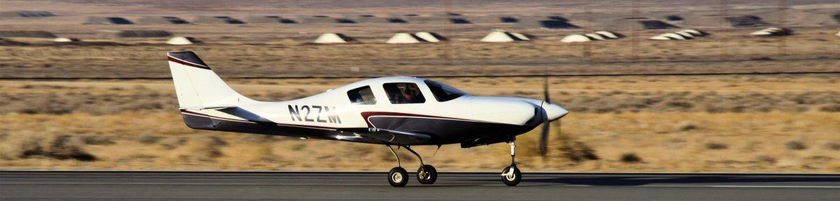 Lancair IV-P on runway