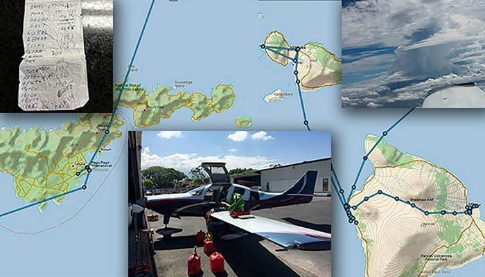 map of Australia with photos of Lancair Super ES