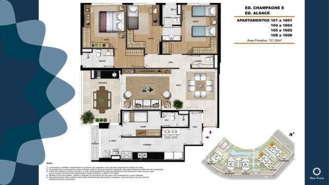 Apartamento 3 suítes
