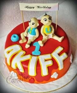 Kek Birthday Akiff Dari Kecik