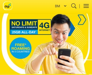Plan baru Digi Pospaid dapat unlimited data
