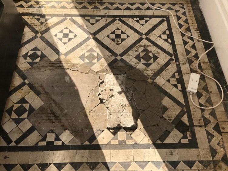 Victorian Tiled Lobby Before Rebuild Lytham St Annes