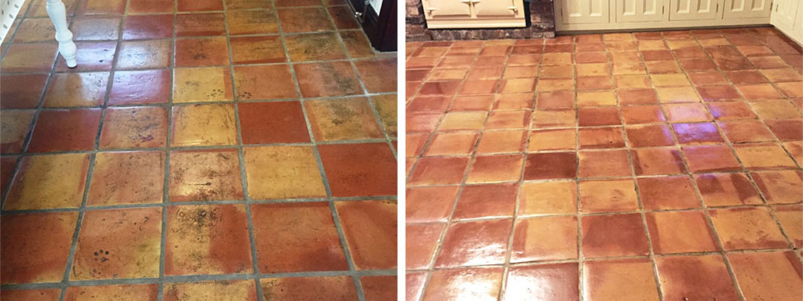 Mexican Terracotta Floor Restoration Ormskirk