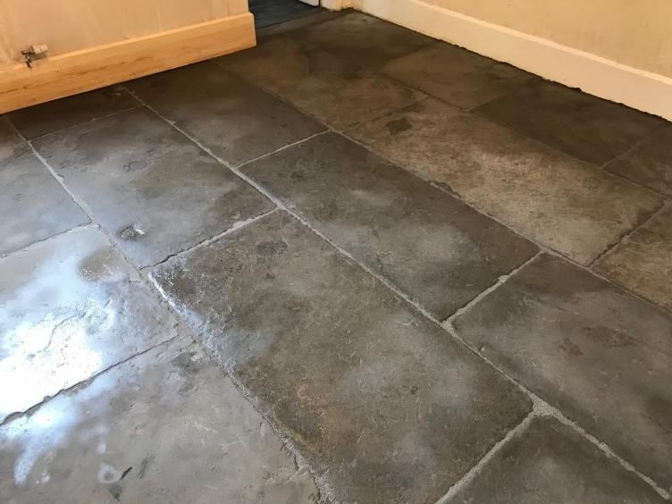 Flagstone Floor After Cleaning Carnforth