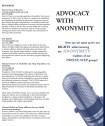 Advocacy with Anonymity