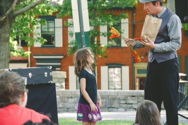 Magician at Kids Day! Photo: Ali & Paul Co.