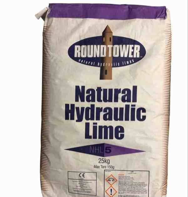 Natural Hydraulic Lime (NHL) 5.0 is the hardest of the NHL's.