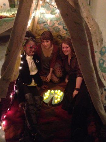 The hostesses.