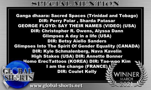 Special Mention awards at Global Shorts