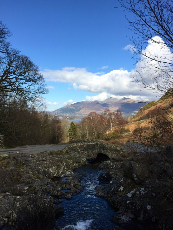 Ashness Bridge, one of the most iconic views in the Lake District.