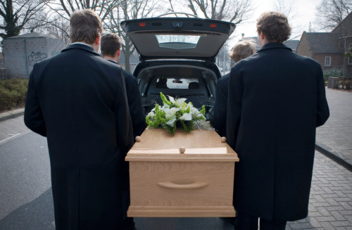 Funeral Pall Bearers Carrying Casket - Copybrander Digital