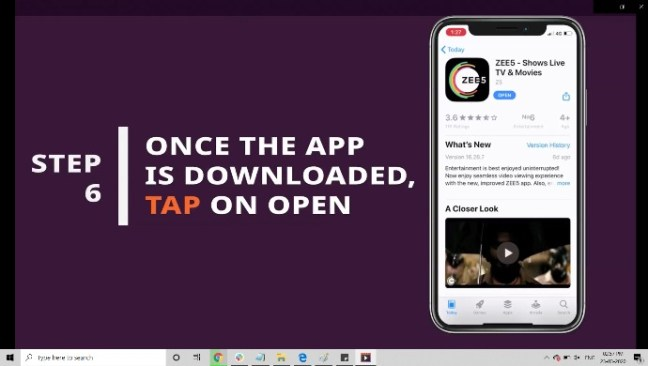 After the app is downloaded, open it and enjoy your TV series and movies