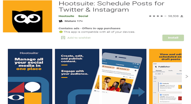 hootsuite for Instagram business