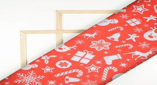 Digital Print Fabric in India - Christmas tree fabric