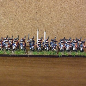 Prussian line command 1 off 1 drum 2 standards bearers