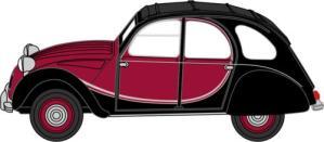 Citroen 2CV Charleston Maroon/Black