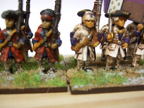 Musketeer advancing shouldered musket forage cap 6 figures