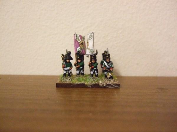 Russian line command 1 officer 1 drummer 2 standard