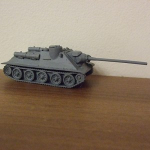 SU100 Tank resin body, metal gun and hatches