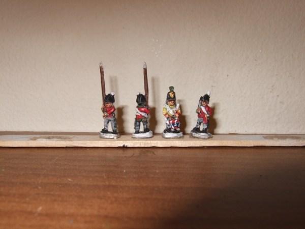 British Peninsular foot command 4 figures