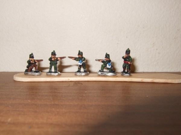 British Peninsular riflemen x10