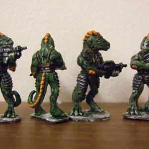 4 Raizze troopers bolt rifles