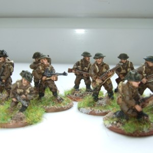 infantry section 1944 advancing