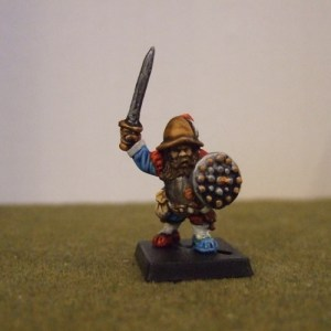 Renaissance Dwarf commander sword and shield