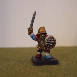 Renaissance Dwarf commander sword and shield