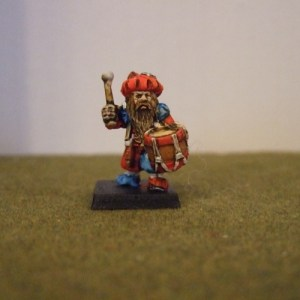 Renaissance Dwarf drummer