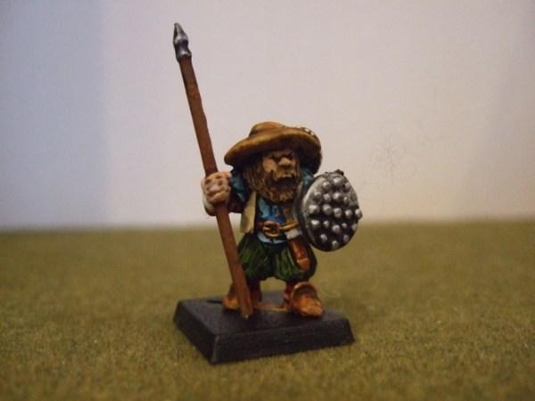 Renaissance Dwarf sword/ axe or spear and Buckler