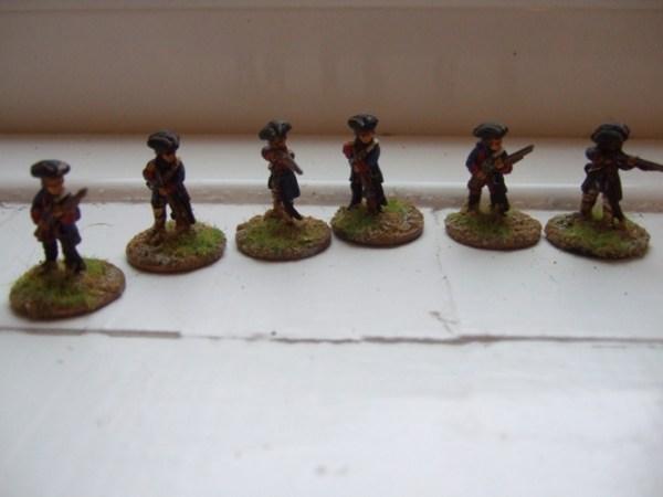 French skirmish long coats 6 figures