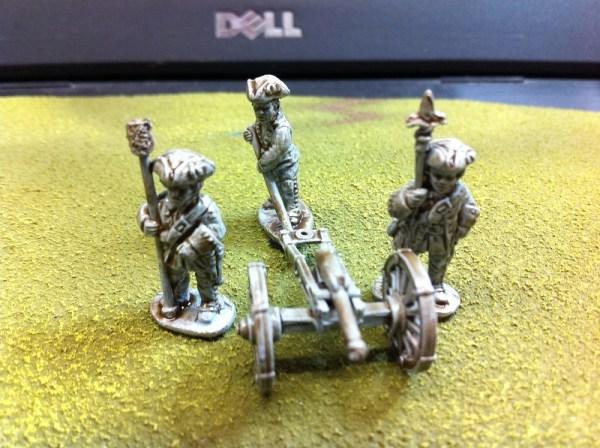 Artillery crew 3 figures