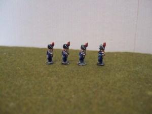 Line Grenadiers in bearskin x4