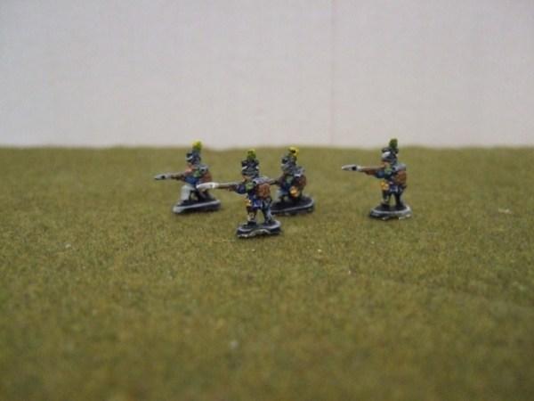 Legere skirmishing 4 figures