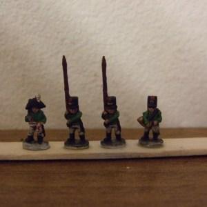 Fusilier comm 2 standar 1 officer 1 horn player