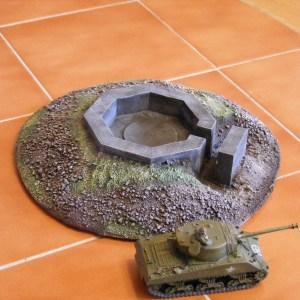 AA large gun position 7 1/2 x 7 1/2