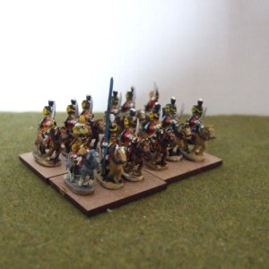 French Hussar unit 12 figures, includes command