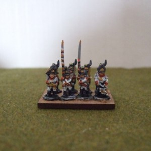 Austrian line command 1 officer 1 drummer 2 standard bearers
