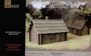 Russian Izba Log Houses 2 pc 1:72
