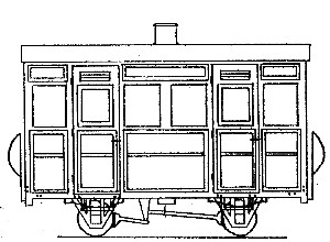 Two Compartment 4 Wheel Coach (based on V of R/Glyn Valley)