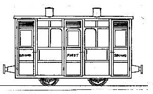 Festiniog & Blaenau 4-Wheel 1st/2nd Class Coach