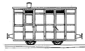 Victorian 4-Wheel Passenger Guards Van
