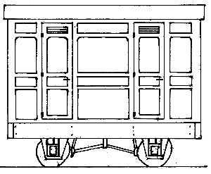 Freelance Panelled 4-Wheel 3rd Class 2 Compartment Coach