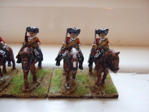 British Troopers 3 men + 3 horses
