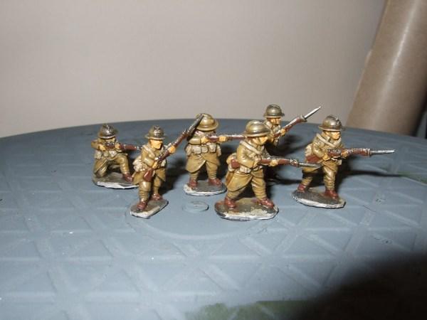 6 mixed riflemen various poses