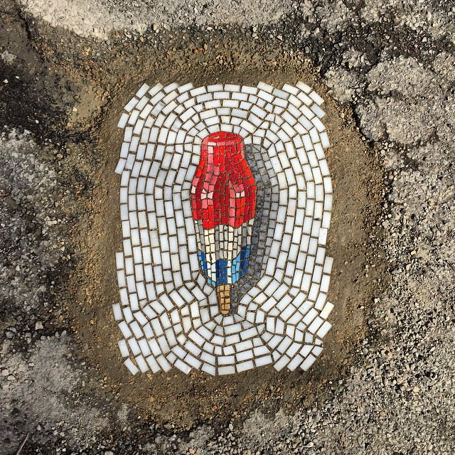 mosaics fix pot holes culture care