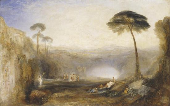 felling in Kingkiller — The Golden Bough exhibited 1834 by Joseph Mallord William Turner 1775-1851