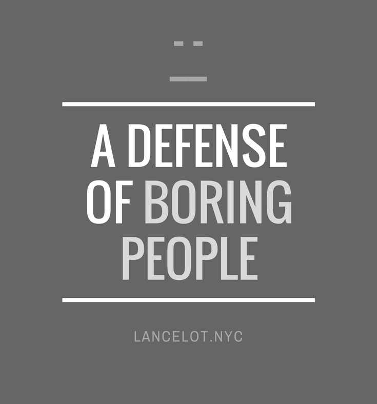 boring people